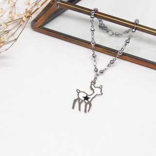 Good friends walking in the forest - Deer Star Necklace / Bracelet