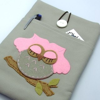 iPad Mini Cover / Case homemade tablet computer bags, cloth cover, cloth (which can be tailored No.) - sleeping owl