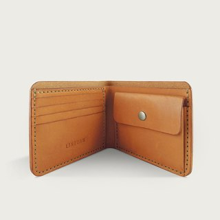 Classic change bag wallet / short clip / wallet - Camel
