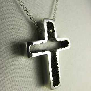 Mittag【NL317】cross a cross a designer handmade silver tide men's necklace - with brand wood jewelry box supermarket shipping free shipping