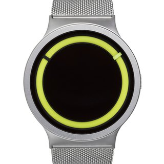 <Glow> cosmic eclipse watches ECLIPSE Steel (Silver / lemon yellow, Chrome / Lemon))