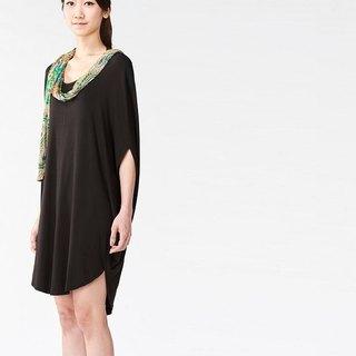 Elliptical scarf design dress / top