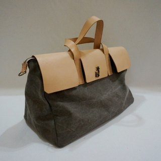 Canvas + leather small bag (sold / please private news color choices)