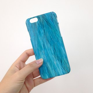 Blue Feather Pattern 3D Full Wrap Phone Case, available for  iPhone 7, iPhone 7 Plus, iPhone 6s, iPhone 6s Plus, iPhone 5/5s, iPhone 5c, iPhone 4/4s, Samsung Galaxy S7, S7 Edge, S6 Edge Plus, S6, S6 Edge, S5 S4 S3  Samsung Galaxy Note 5, Note 4, Note 3,  N