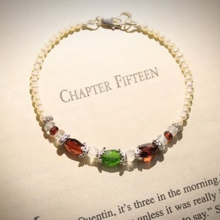 * Limited Journal pledge end of the year (new hat) sterling silver, natural garnet diopside hand Bracelet
