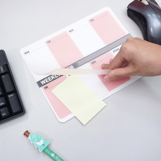 【OSHI】Double Layer Mouse Pad-Weekly plan (pink)