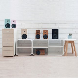 MINFORT | MIN16 handmade wood wireless Bluetooth stereo (baking section) (display clearing)