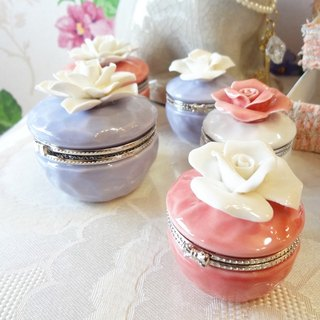 [ChouChou Lista] Japanese Fine Flower Ceramic Jewelry Box (Large)