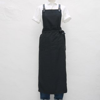 Woman Leather Strap Wrap-dress Apron