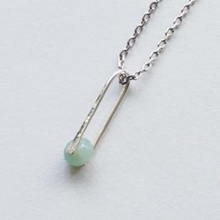 Rain - Silver Necklace (natural stone Tianhe Stone)