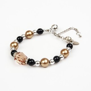 Ella Wang Design gem pearl necklace - brown cat collar pet collar necklace handmade fashion
