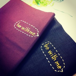 Hand clothes for the book notebook [Talk to Her] -be with me luxurious purple canvas subsection (Big = A5)