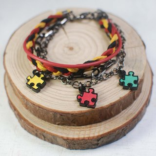 Color multi-level puzzle bracelet