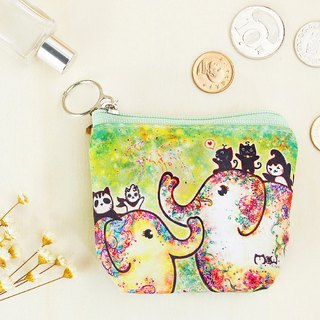 Good meow small purse - Elephant flowering