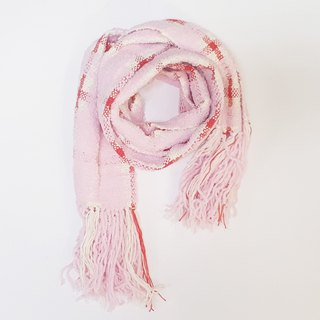 // Cross-Pink // limited edition hand-woven scarves feel a
