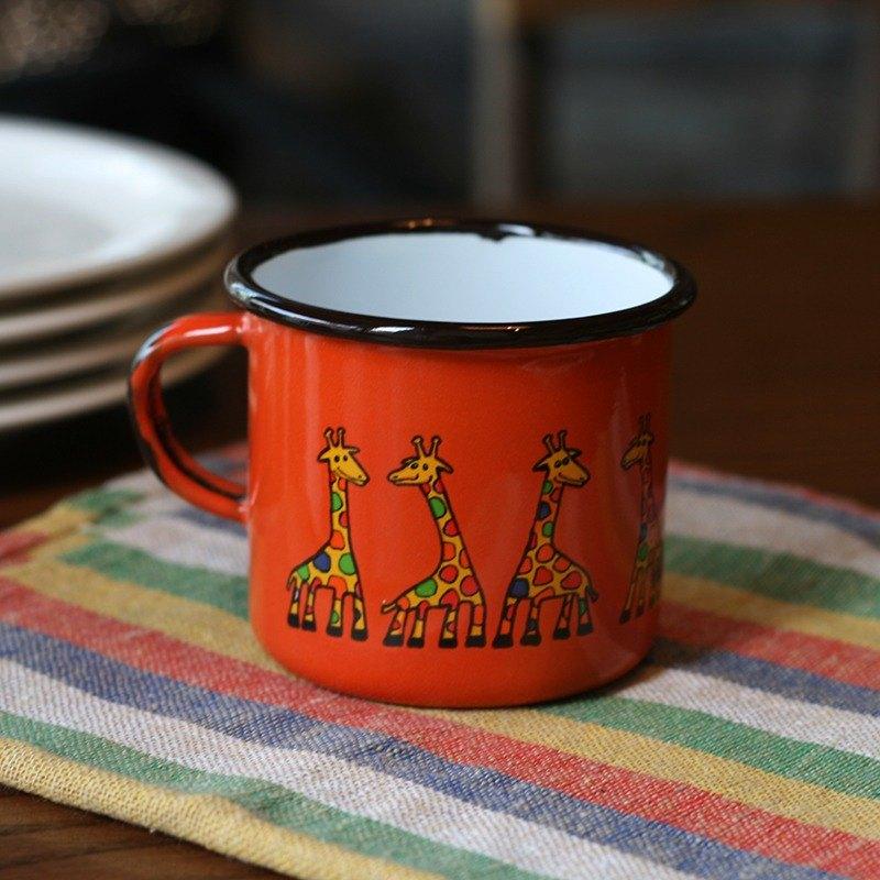 Smaltum布拉格 琺瑯杯 古錐長頸鹿_柑橘(250ml)(FDN000145)