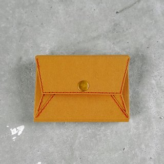 Business card holder . coin purse  (Tan)