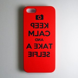 SO GEEK 手機殼設計品牌 THE SELFIE GEEK TAKE A SELFIE款 (紅)