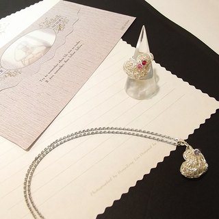 [Mrs.U 丝藏蜜语] 珍心-SWAROVSKI crystal necklace, ring, bracelet