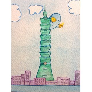 Oaklets Taipei 101 Post Card