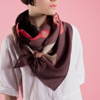 Head in Sand wool scarf
