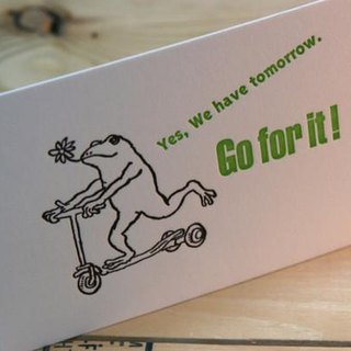 Go for it! ---Letterpress card