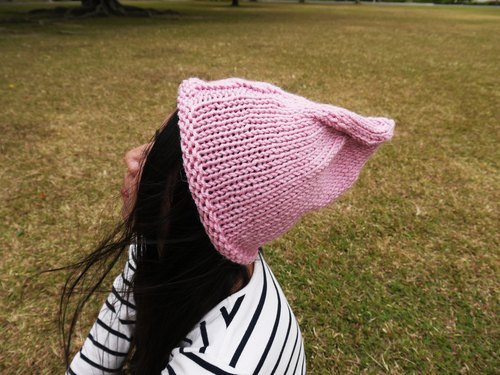 Mama 100% hand-made hat - Owl Elf caps - pink - Christmas / exchange gifts