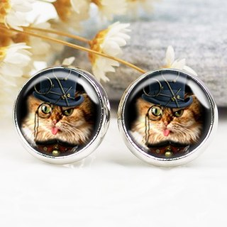 Detective cat - ear clip earrings earrings ︱ ︱ ︱ little face modified fashion accessories birthday gift