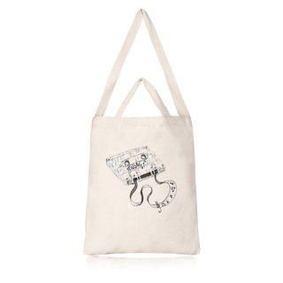 To the point of retro music fresh air straight canvas bag