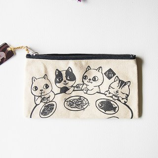 fish cat / pencil case