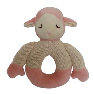 US MyNatural organic cotton Goodnight Series Gu Chi rattle - Pink lamb