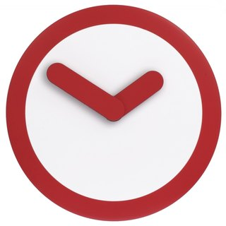 NeXtime - Focus Silver Swing Clock - Red