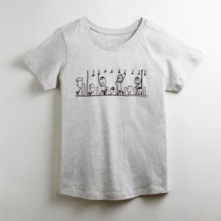 Cotton handmade texture T-shirt female models (family) - childlike I am taking the bus