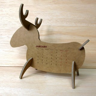 Elk shape desk calendar New Year