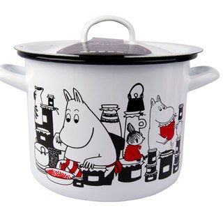 Finnish Moomin Lulu meters large stew pot (white) Valentine's Day gift