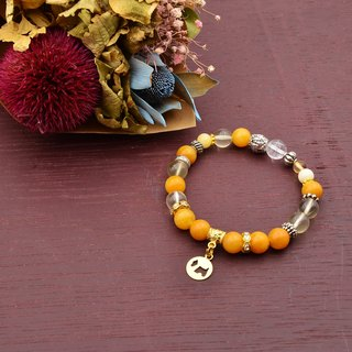 Bathing sunset | topaz - yellow crystal | natural stone bracelet