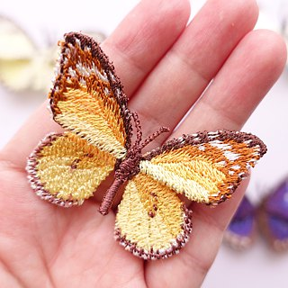 Embroidery Butterfly Brooch Clip Ring / Plain Tiger Butterfly (small)