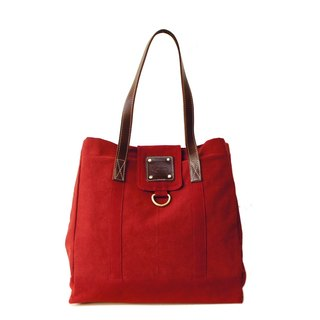 [Happa] personality Cikou Tote - stonewashed canvas classic (Wine Wine Red) to exchange gifts Required