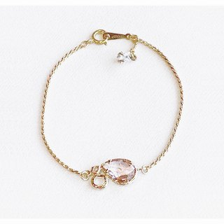 ∴Minertés = pale Crystal ‧ brass (gold-plated) Bracelet ∴