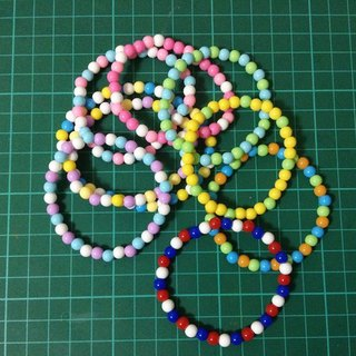 Candy beads bracelet color optional three ((over 600 were sent mysterious little gift))