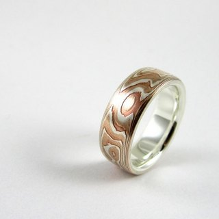 Element 47 Jewelry studio~ mokume gane ring 02 (silver/copper/shibuichi)