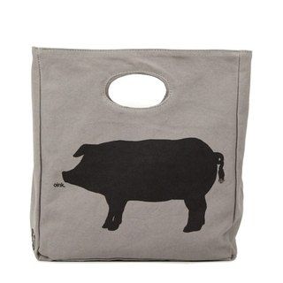 Canadian Fluf Piggie Hungry Organic Cotton Bags/Handbags/Handbags (Large)