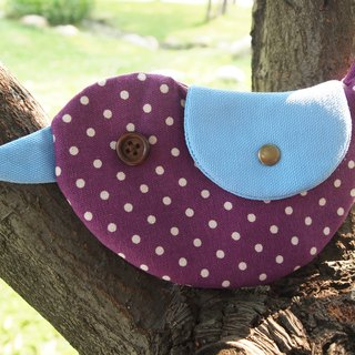 Purple little happiness Bluebird / purse