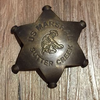 Early American sheriff badge