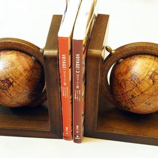 60 - 70s Italian Globe bookends