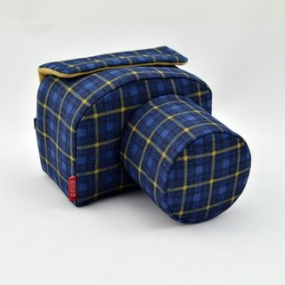 Camera bag (for your camera) the amount of manual machine custom personalized blue plaid 006