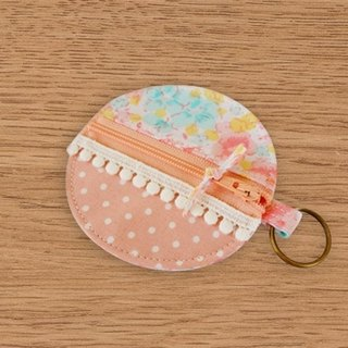 [Miya ko. Grocery cloth hand-made] Shuiyu little / Floral / headphone bag / purse / key ring / Wallets
