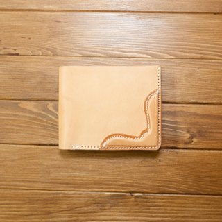 Dreamstation leather Pao Institute, vegetable tanned leather short clip, handmade, short clip, wallets., Business card holder! Clearing price