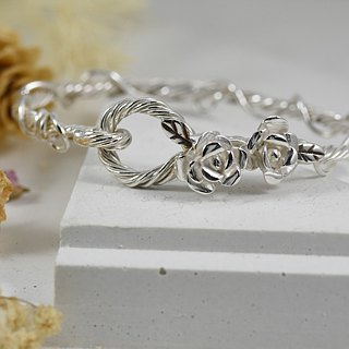 Lucky silver bracelet - Laurel crown