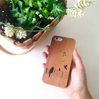 Singing Birds Real Wood iPhone Case for iPhone 6/6S, iPhone 6/6S Plus